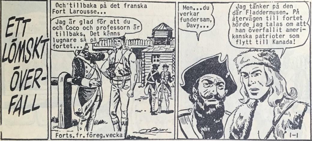Den inledande sidan ur Prärieserier nr 1, 1959