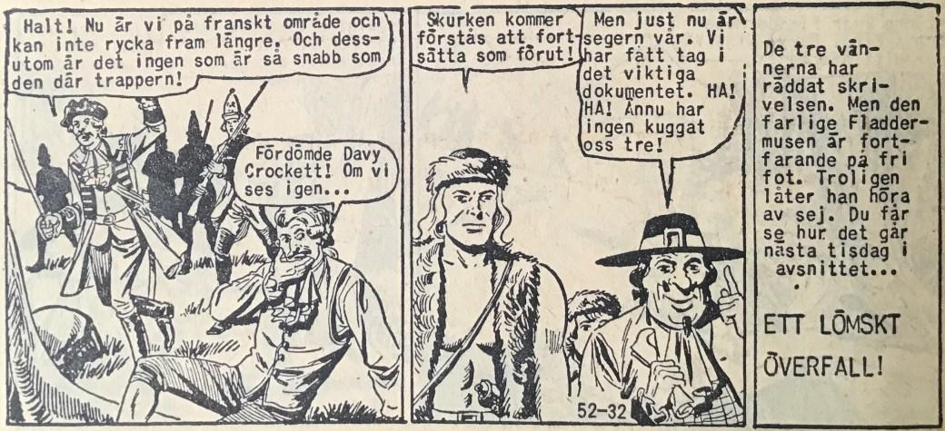 Den avslutande sidan ur Prärieserier nr 52, 1958