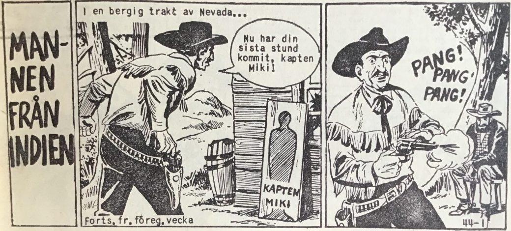Den inledande sidan ur Vilda Västern nr 44, 1959