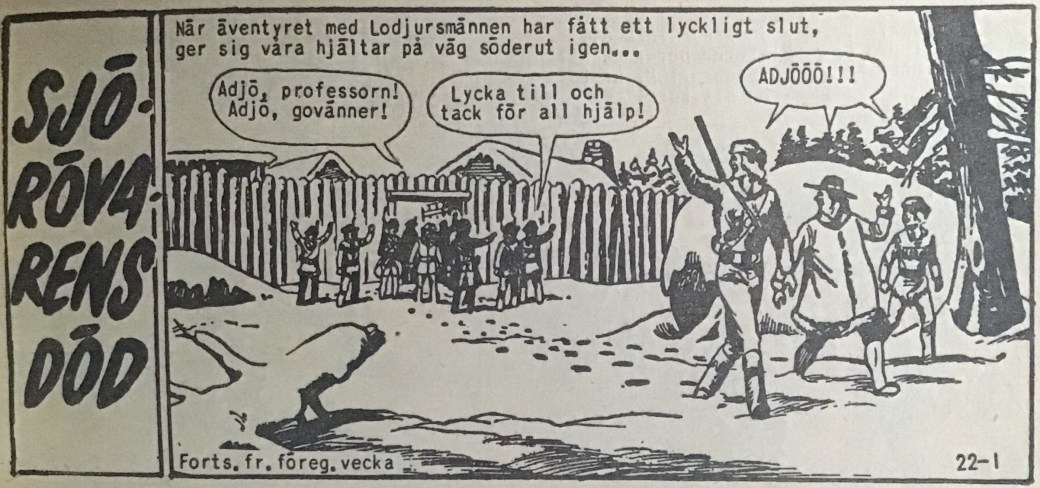 Den inledande sidan ur Prärieserier nr 22, 1959