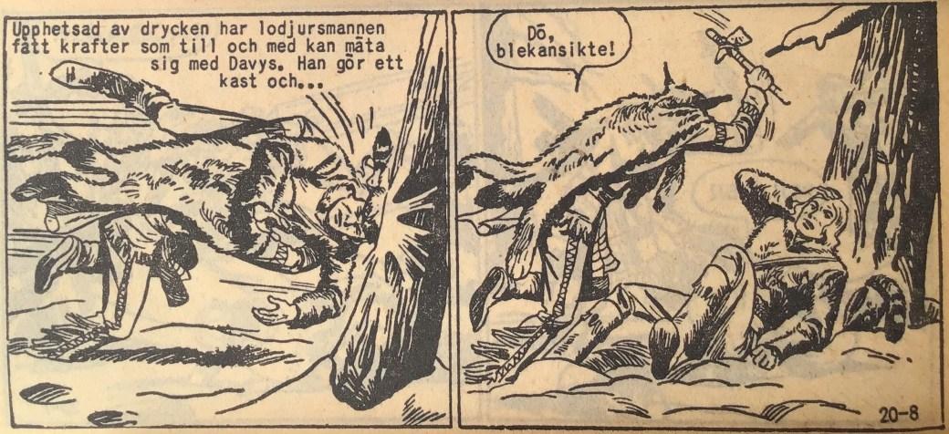 En sida ur Prärieserier nr 20, 1959