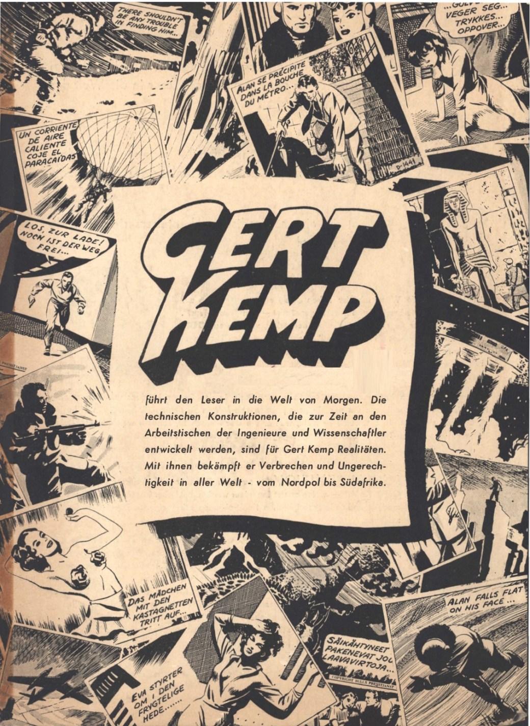 Lanseringsannons på tyska för Gert Kemp