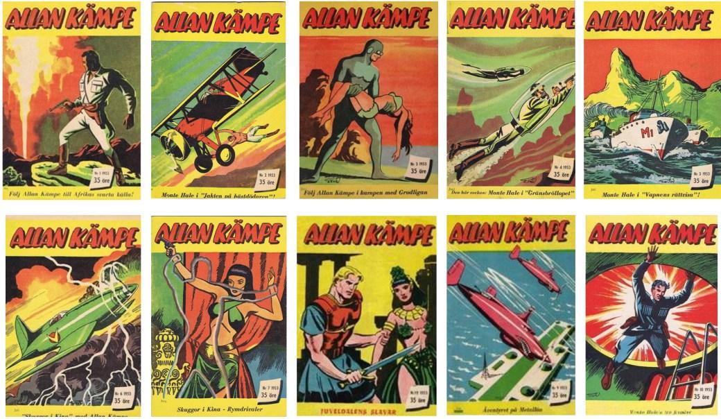 Allan Kämpe utkom som egen serietidning redan 1953