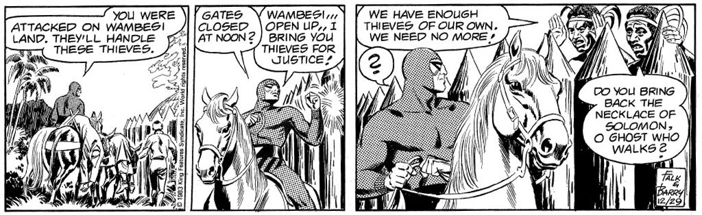 En stripp från 29 december 1983 ur episoden The Necklace of Solomon