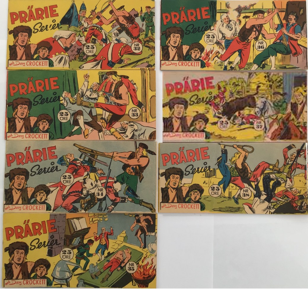 Davy Crockett-äventyr 1958 i Prärieserier nr 32-38, 1958