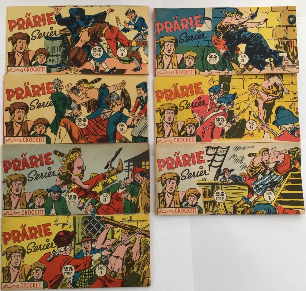 Davy Crockett-äventyr 1959 i Prärieserier nr 1-7, 1959