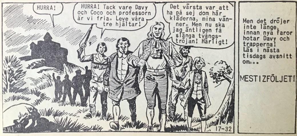 Den avslutande sidan ur Prärieserier nr 17, 1958