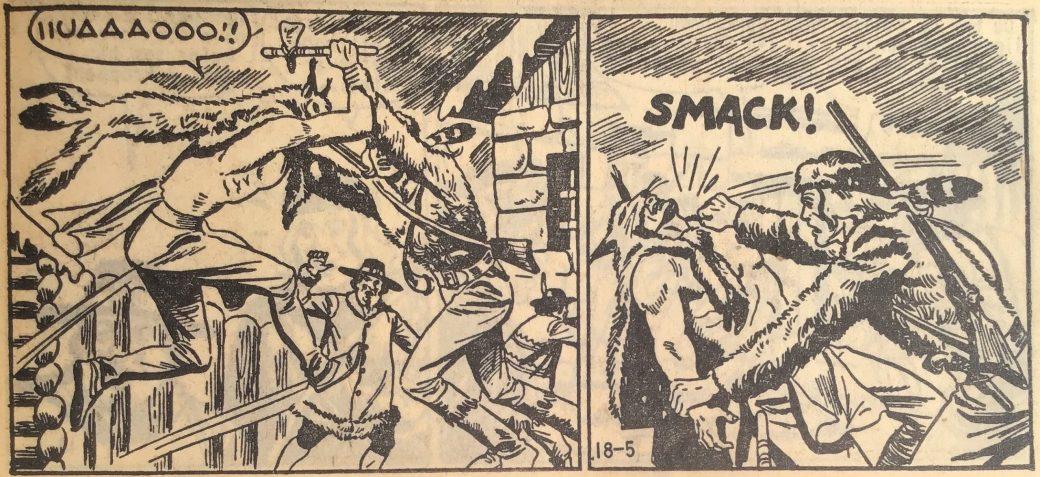 En sida ur Prärieserier nr 18, 1959