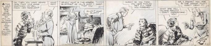 Ett original av Secret Agent X9 av Alex Raymond från 11 februari 1935