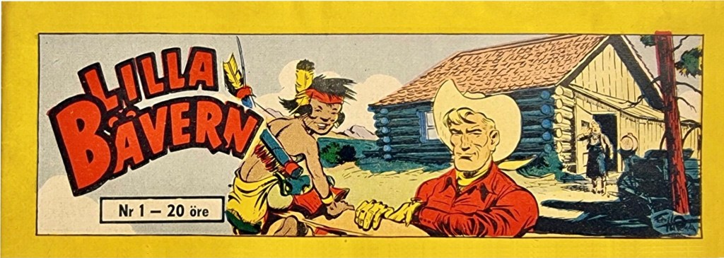 Omslag till premiärnumret av Lilla Bävern, nr 1, 1954. ©Cirkelförlaget