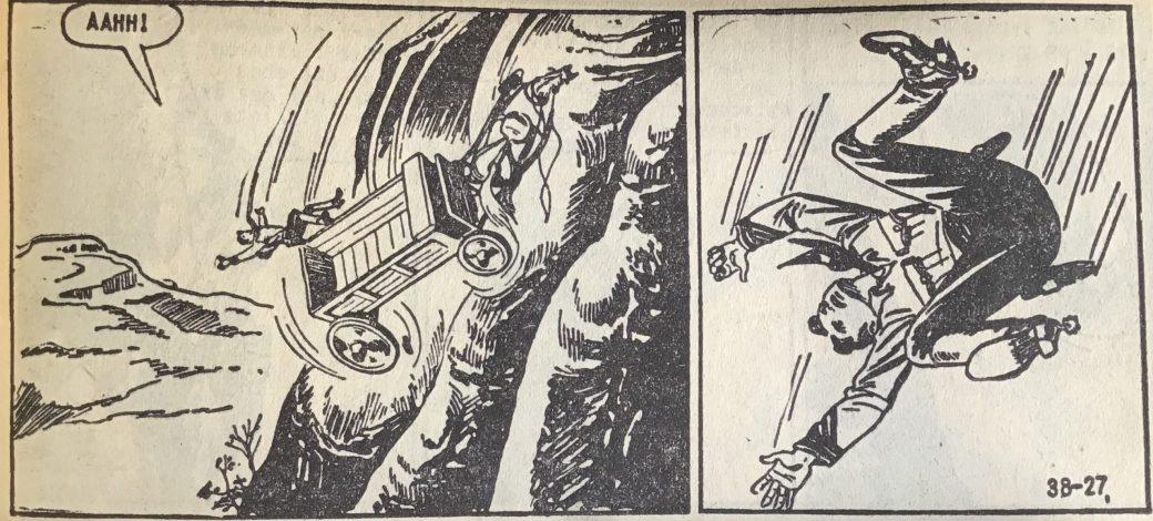 En dramatisk sida ur Vilda Västern nr 38, 1957