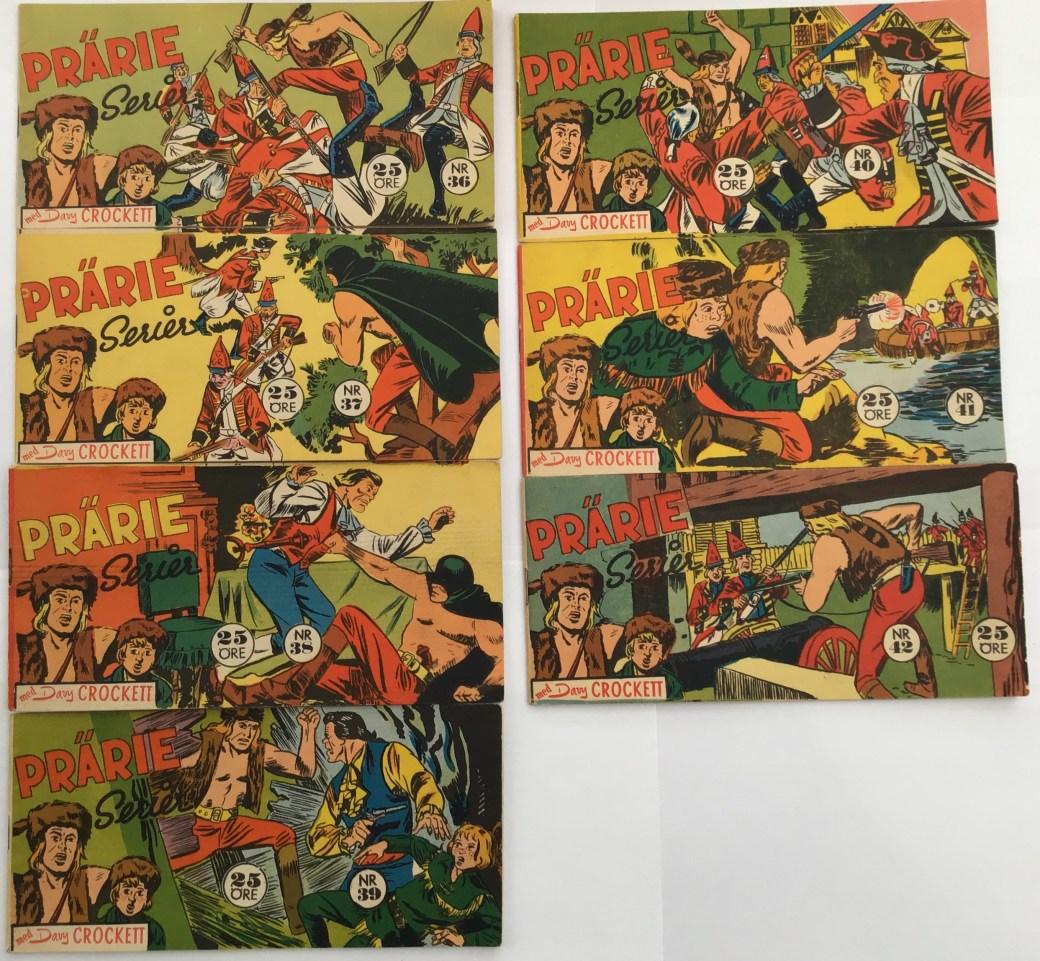 Davy Crockett-äventyr 1959 i Prärieserier nr 36-42, 1959
