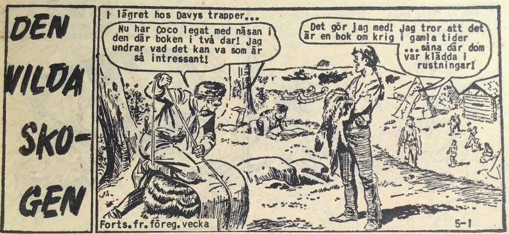 Den inledande sidan ur Prärieserier nr 5, 1960
