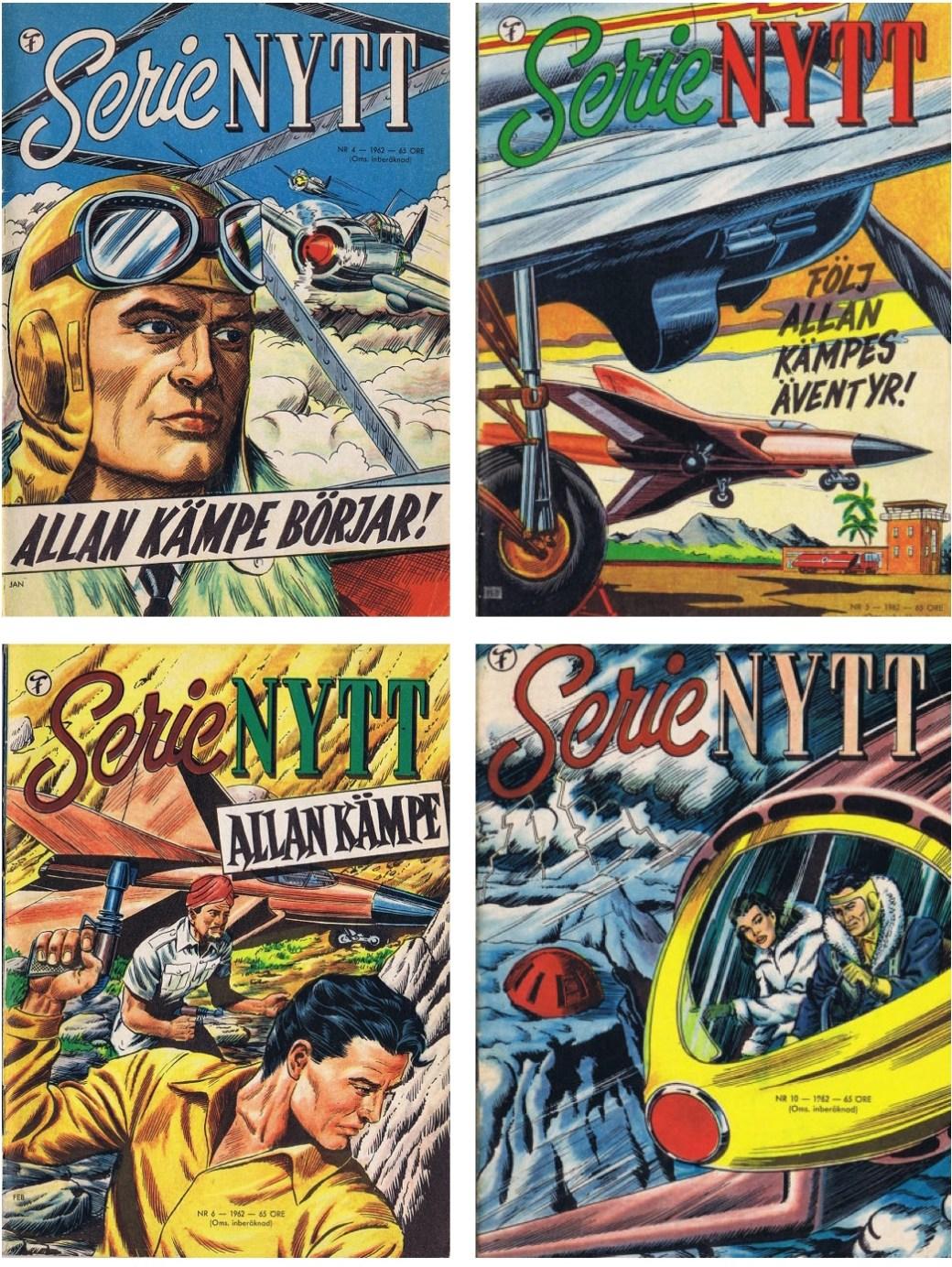 Allan Kämpe publicerades i SerieNytt från nr  4, 1962 till nr 11, 1963