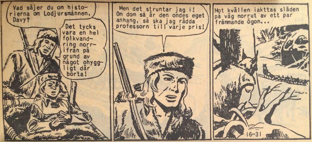 En sida ur Prärieserier nr 16, 1959