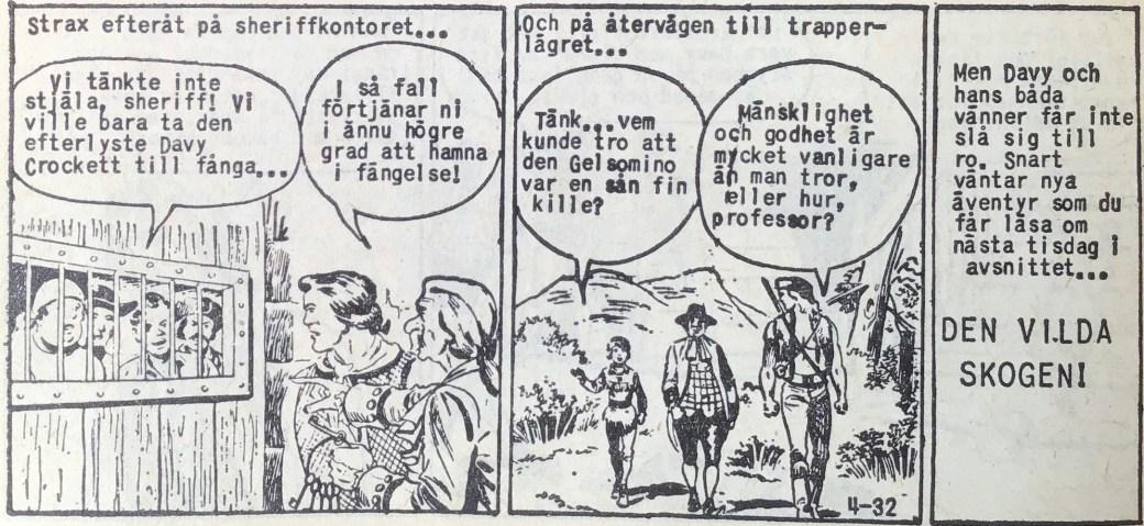 Den avslutande sidan ur Prärieserier nr 4, 1960