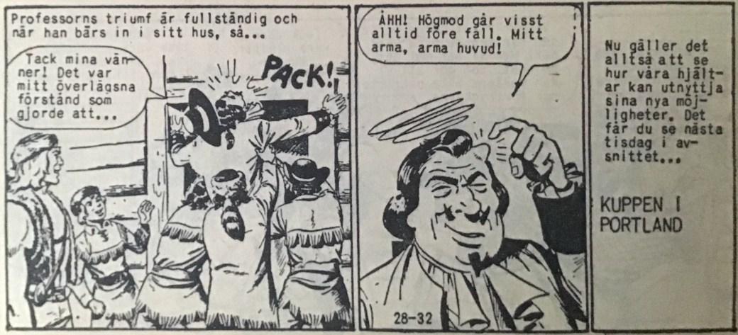 Den avslutande sidan ur Prärieserier nr 28, 1959