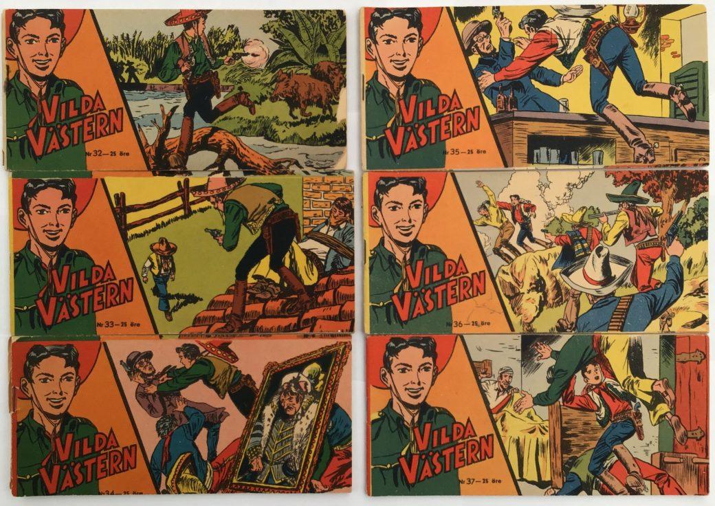 Vilda Västern nr 32-37, 1957