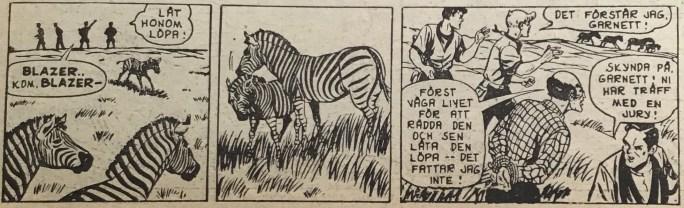 Den avslutande strippen i Spud & Co nr 1, 1964