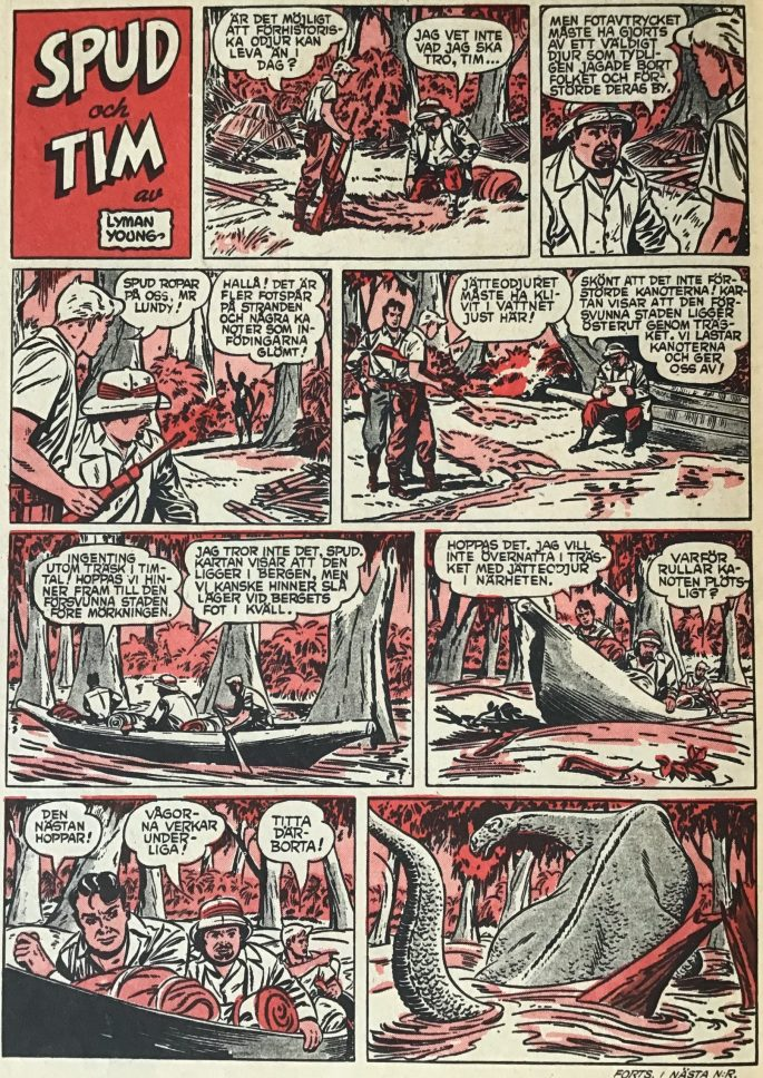 Spud och Tim ur Karl-Alfred nr 10, 1953
