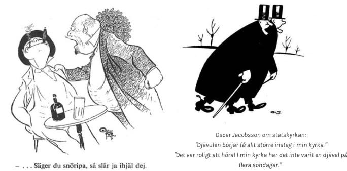 Två gånger Oscar, Andersson och Jacobsson, var några av våra svenska serietecknare och andra serieskapare