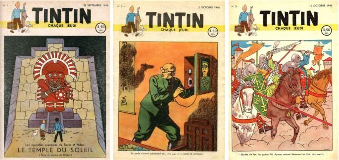 Le Journal de Tintin nr 1-3, 1946 utgivna av förlaget ©Le Lombard