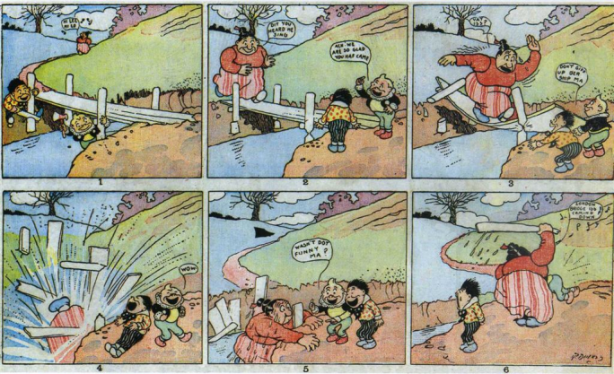 Den tecknade serien The Katzenjammer Kids av Rudolf Dirks från 14 april 1901
