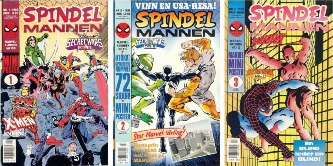 Spindelmannen nr 1-3, 1988 från ©Satellitförlaget