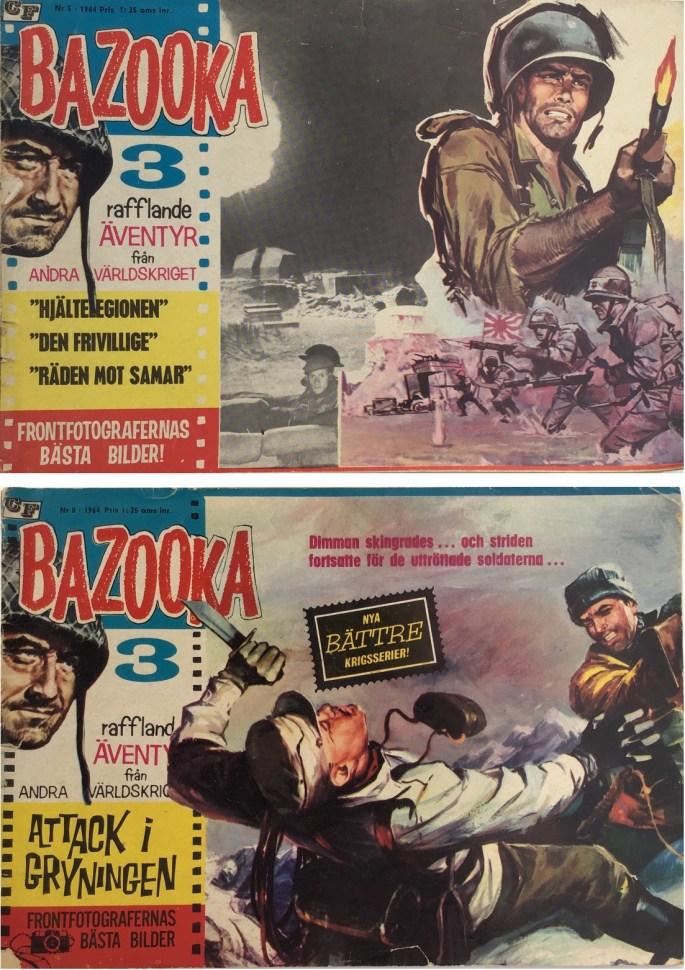 Bazooka hade biblioteksformatets höjd, men var dubbelt så bred