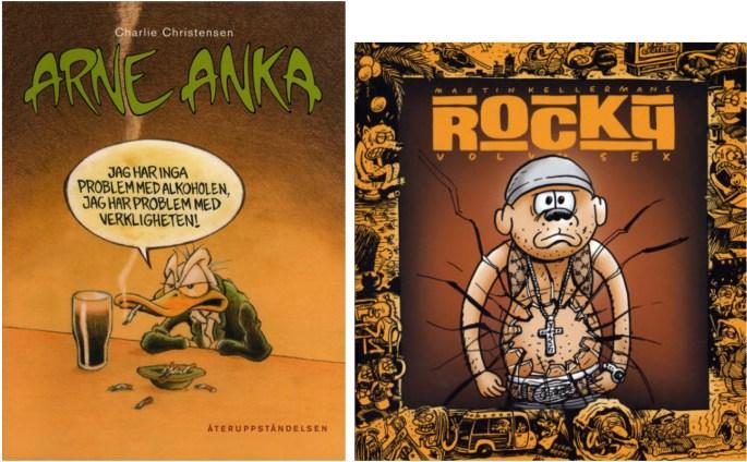 Arne Anka album nr 5 (2006), och Rocky volym sex (2004) från ©Kartago Förlag
