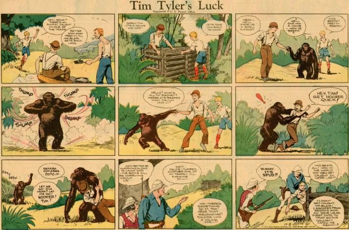 Tim Tyler's Luck av Lyman Young från 8 oktober 1933