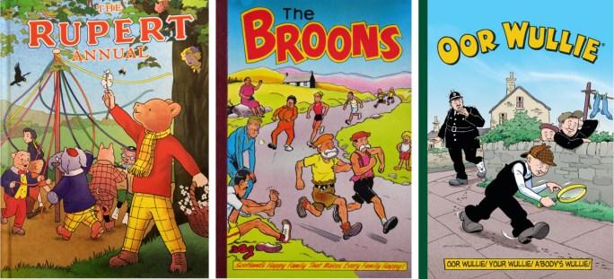 Årsböcker med brittiska serier