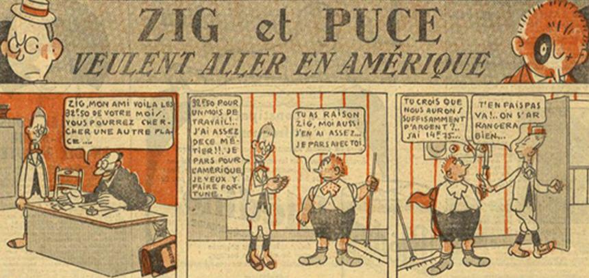 Den tecknade serien Zig et Puce från 1925