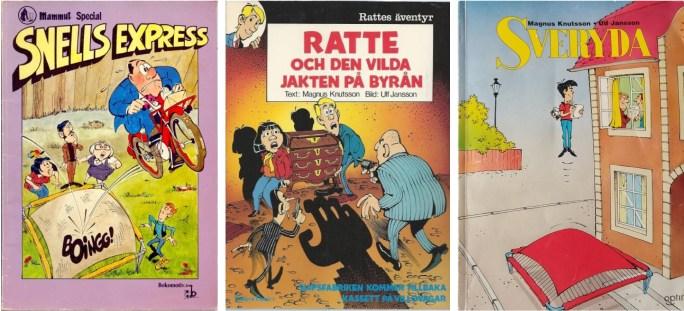 Knutsson och Jansson var flitigt representerade på seriealbummarknaden
