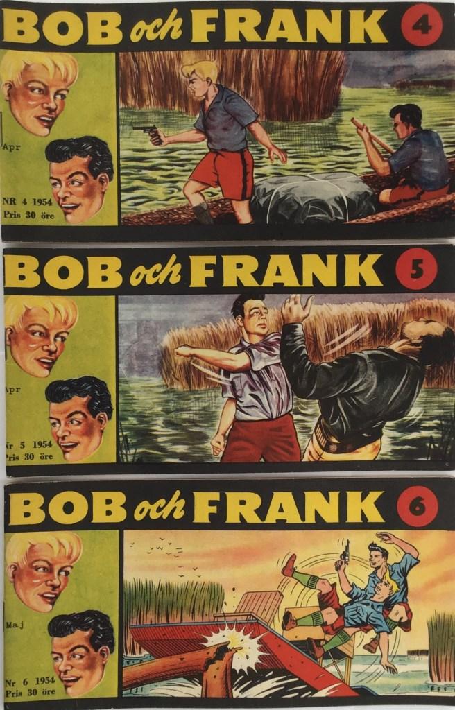 Omslag till Bob och Frank nr 4-6, 1954