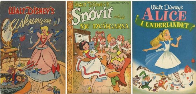 Walt Disney's Serier gavs från början ut av Richter som B-nummer till Kalle Anka & C:o