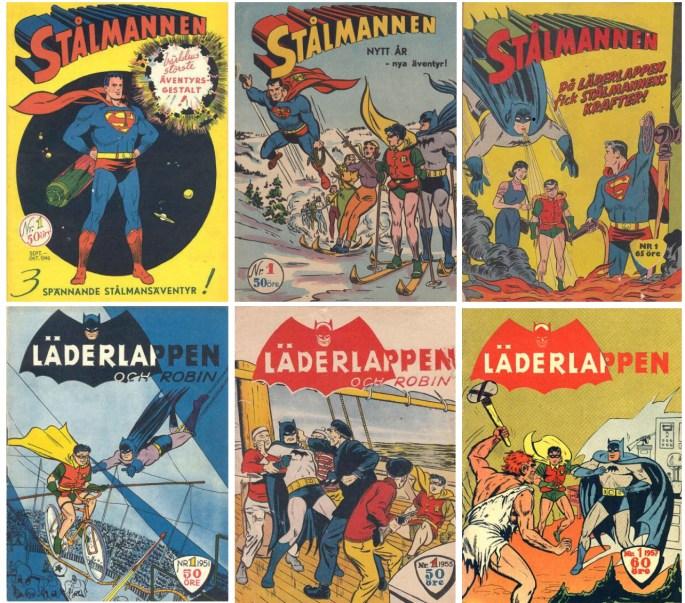 Dominerande titlar under 50-talet var Stålmannen och Läderlappen utgivna av ©Centerförlaget