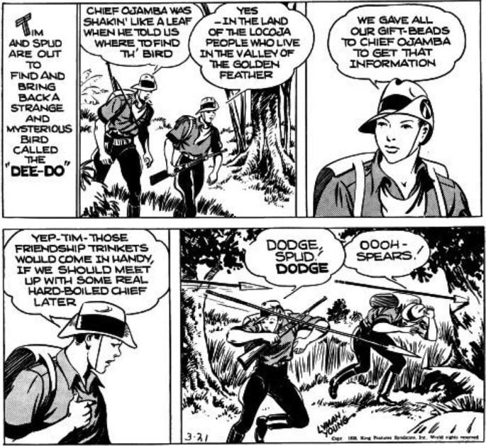 En dagsstripp från 21 mars 1938