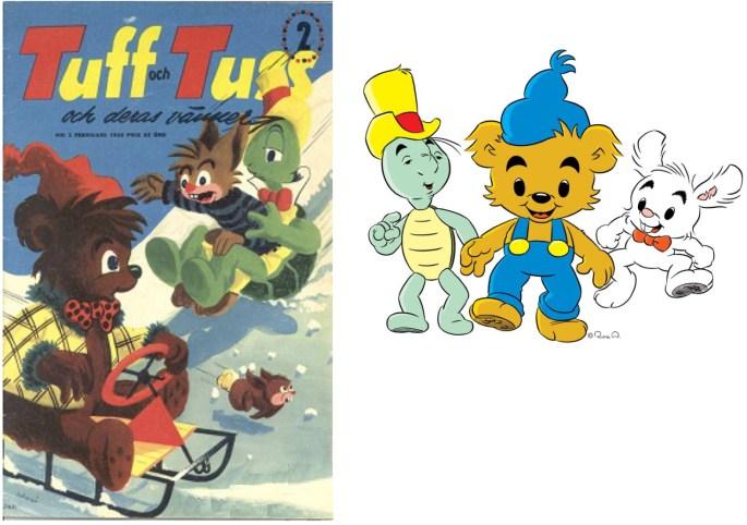 En av Sveriges serietecknare och andra serieskapare, Rune Andréasson, ritade världens starkaste björn, Teddy, innan han ritade Bamse, världens starkaste björn