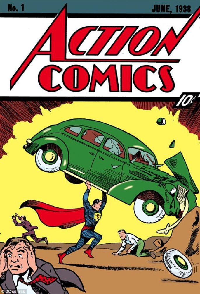 Action Comics #1 innehöll elva olika serier, och bland dem Superman av Siegel och Shuster