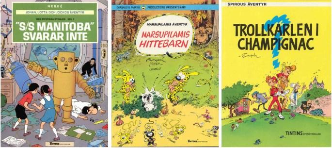 Förlaget ©Nordisk bok var utgivare av seriealbum som Johan, Lotta och Jocko, Marsupilami och Spirou.
