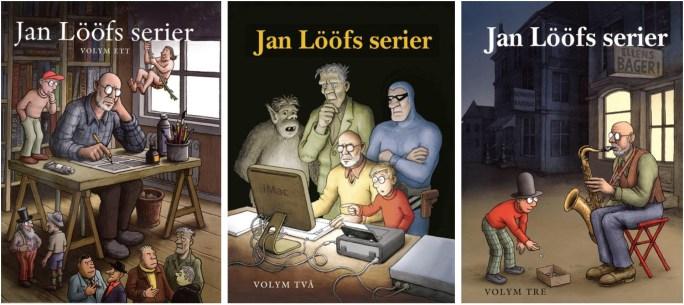 Jan Lööfs serier, volym ett, två och tre från ©Kartago Förlag