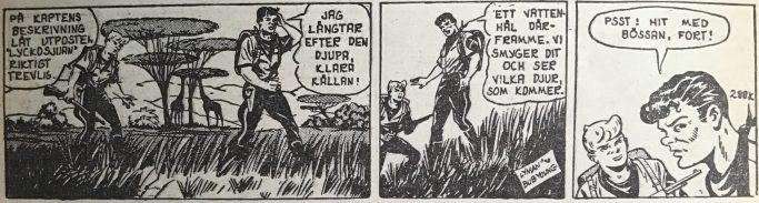 En stripp ur episoden Lyckosjuans hemlighet, av Lyman och Bob Young