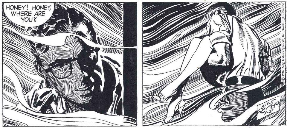 Ett par rutor ur dagsstrippen från 27 juli 1956, av Fred Dickenson och Alex Raymond