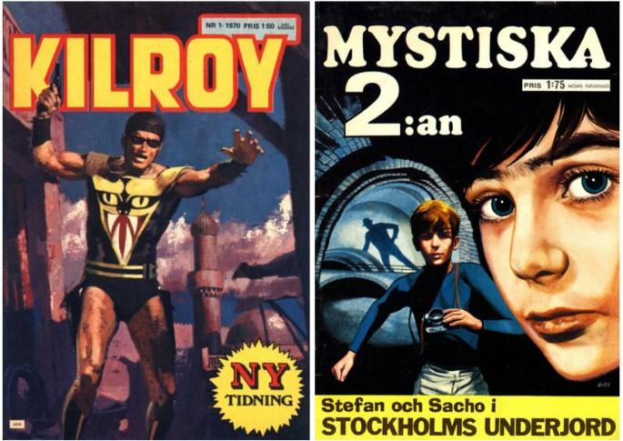Förlaget Inter-Art utgav Kilroy och Mystiska 2:an