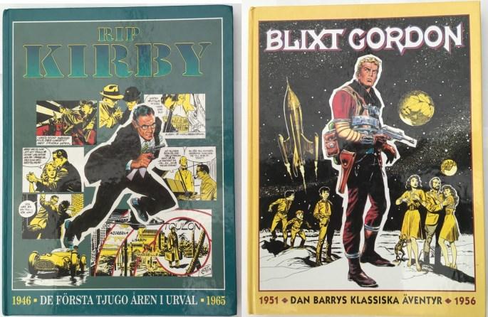 Samlingsvolymer med Rip Kirby och Blixt Gordon utkom 1994 från ©Semic Press förlag