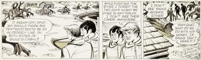 En dagsstripp från 22 oktober 1977, när Bob Young tagit över dagsstripparna helt
