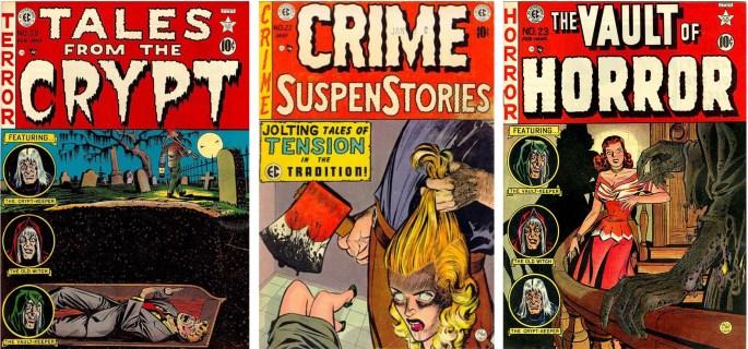 E.C. Comics publicerade ett flertal serietidningar i skräck- och kriminalgenren