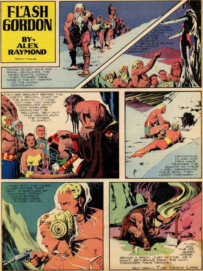 Flash Gordon från 21 maj 1939, som helsida tabloid