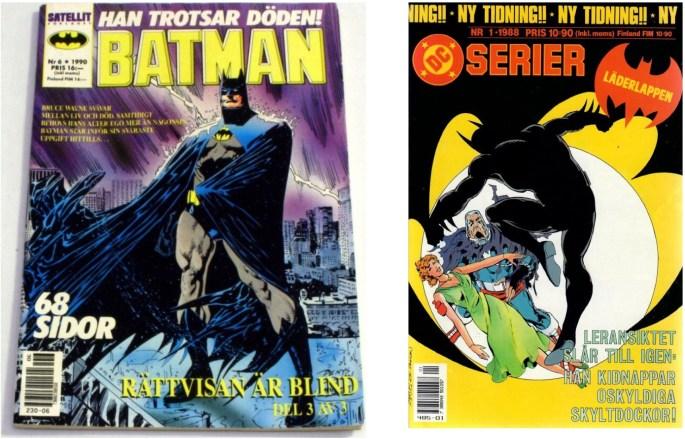 Med DC-titlarna följde Batman/Läderlappen till ©Satellitförlaget